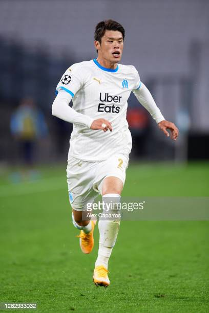 Hiroki Sakai of Olympique de Marseille runs during the UEFA Champions League Group C stage match between Olympique de Marseille and Manchester City...