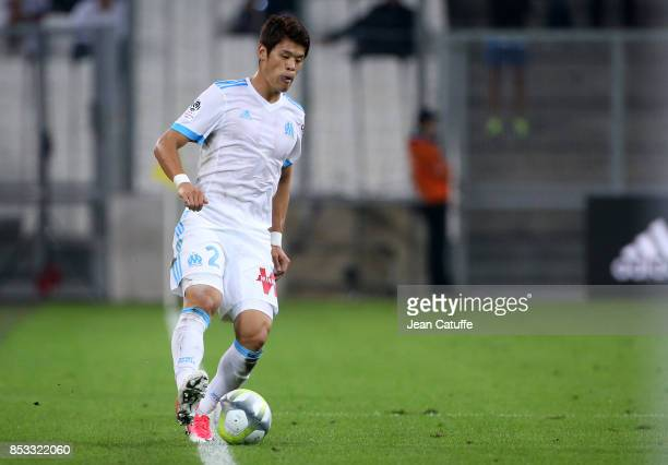 Hiroki Sakai of OM during the French Ligue 1 match between Olympique de Marseille and Toulouse FC at Stade Velodrome on September 24 2017 in...