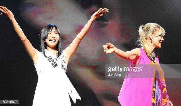 Miss Universe Japan 2008 Hiroko Mima attends the Sex And