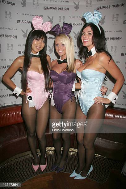 Hiromi Oshima Playboy Miss June 2004 Sara Jean Underwood Playboy Playmate of the Year 2007 and Alison Waite