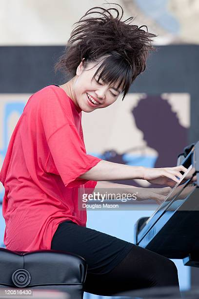 Hiromi performs during the 2011 Newport Jazz Festival on August 6 2011 in Newport Rhode Island