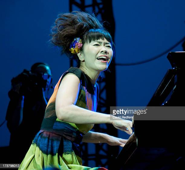 Hiromi performs during the Jazz a Juan Festival on July 17 2013 in JuanlesPins France
