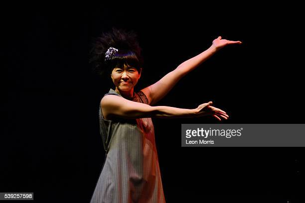 Hiromi performs on stage at Hamer Hall during the Melbourne International Jazz Festival 2016 on June 9 2016 in Melbourne Australia