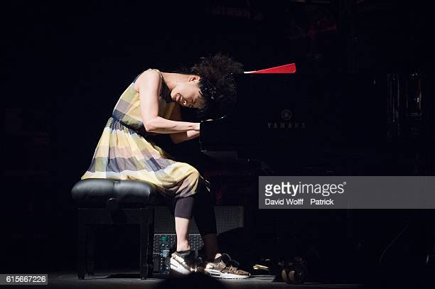 Hiromi Uehara from Hiromi performs at La Cigale on October 19 2016 in Paris France