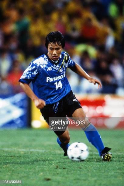 Hiromitsu Isogai of Gamba Osaka in action during the J.League match between Kashiwa Reysol and Gamba Osaka at the Hitachi Kashiwa Soccer Stadium on...