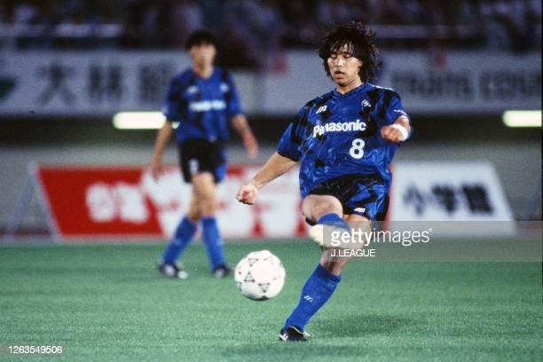 Hiromitsu Isogai of Gamba Osaka in action during the J.League Suntory Series match between Gamba Osaka and Yokohama Marinos at the Expo '70...