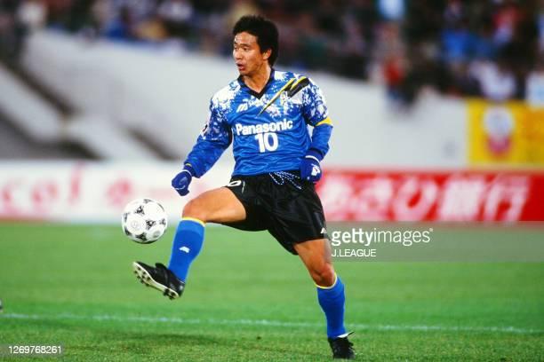 Hiromitsu Isogai of Gamba Osaka in action during the JLeague Suntory Series match between Gamba Osaka and Nagoya Grampus Eight at the Expo '70...