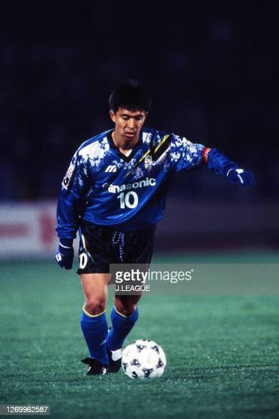 Hiromitsu Isogai of Gamba Osaka in action during the J.League Suntory Series match between Bellmare Hiratsuka and Gamba Osaka at the Hiratsuka...