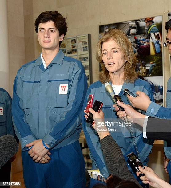 Hirono Japan US Ambassador to Japan Caroline Kennedy speaks to reporters in the town of Hirono Fukushima Prefecture on May 14 after touring Tokyo...
