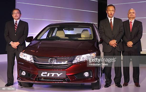 Hironori Kanayama President and CEO of Honda Cars India Ltd Yoshiyuki Matsumoto Managing Officer of Honda Motor Company and HSCI Senior Vice...