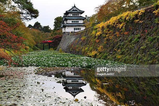 Hirosaki Castle im Herbst, Japan
