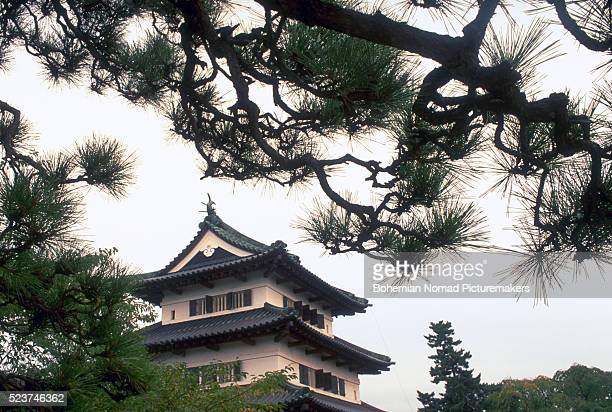 hirosaki castle pagoda - hirosaki castle stock pictures, royalty-free photos & images