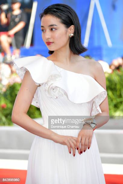 Hirose Suzu walks the red carpet ahead of the 'The Third Murder ' screening during the 74th Venice Film Festival at Sala Grande on September 5 2017...