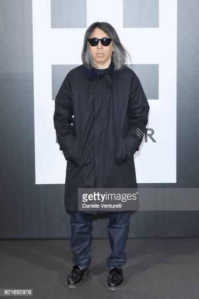 ae99e0fd74ba Hiroshi Fujiwara attends Moncler Genius during Milan Fashion Week on  February 20 2018 in Milan Italy