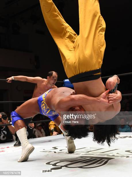 Hiroshi Hase competes in the ProWrestling Masters at Korakuen Hall on August 21 2018 in Tokyo Japan