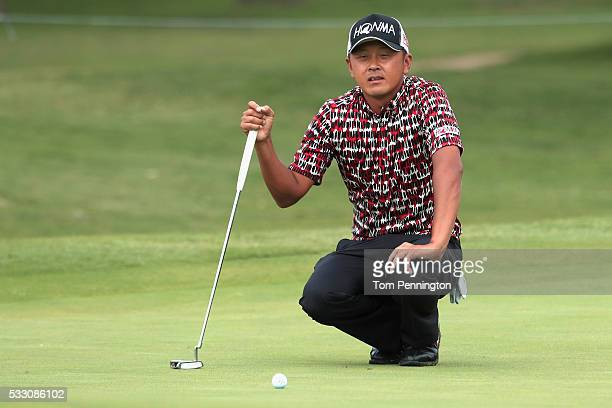 Hiroshi Iwata of Japan looks on during Round Two at the ATT Byron Nelson on May 20 2016 in Irving Texas