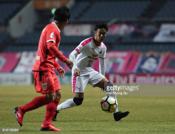 Hiroshi Kiyotake of Cerezo Osaka in action during the AFC Champions League Group G match between Jeju United and Cerezo Osaka at the Jeju World Cup...