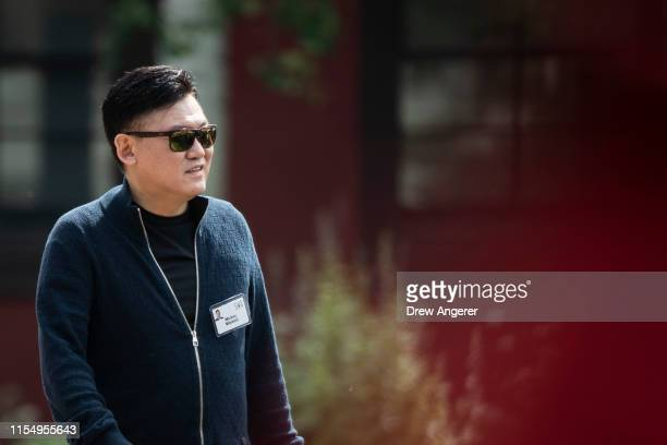 Hiroshi Mikitani, chief executive officer of Rakuten, attends the annual Allen & Company Sun Valley Conference, July 10, 2019 in Sun Valley, Idaho....