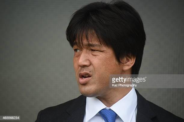 Hiroshi Nanami manager of Jubilo Iwata during the JLeague second division match between Jubilo Iwata and Giravanz Kitakyushu at Yamaha Stadium on...