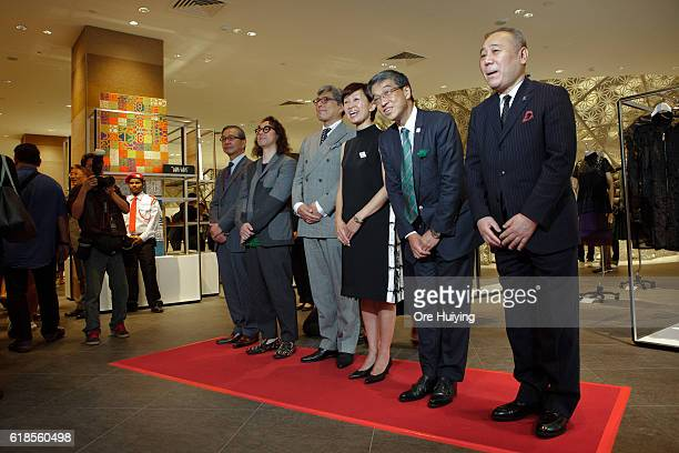 Hiroshi Ohnishi, President and CEO of Isetan Mitsukoshi Holdings Ltd. Greets and shoppers storm in as ISETAN The Japan Store opens on October 27,...