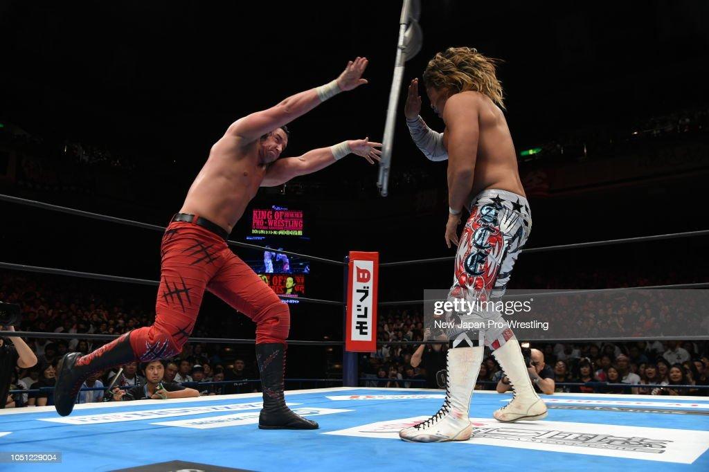 Hiroshi Tanahashi vs Jay White during the King of Pro-Wresting at