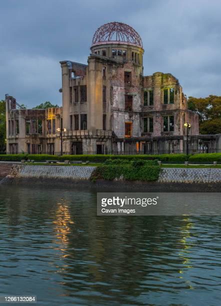 hiroshima, a-bomb (genbaku) dome, japan - atomic bombing of hiroshima stock pictures, royalty-free photos & images
