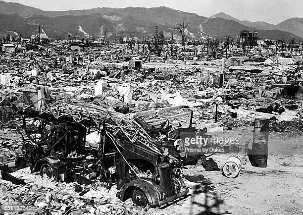 Hiroshima after Atomic Bomb strike in 1945