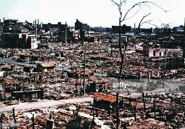 Hiroshima after Atomic Bomb strike in 1945.