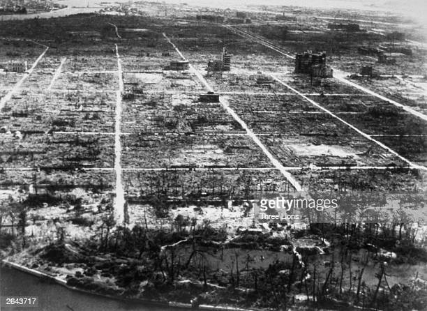 Hiroshima after the atom bomb explosion