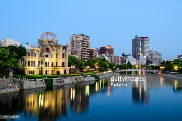 hiroshima bomba atómica dome - hiroshima fotografías e imágenes de stock