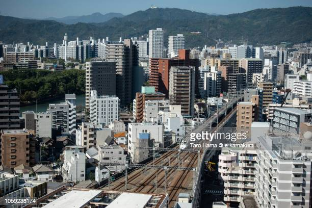 Hiroshima cityscape in Japan