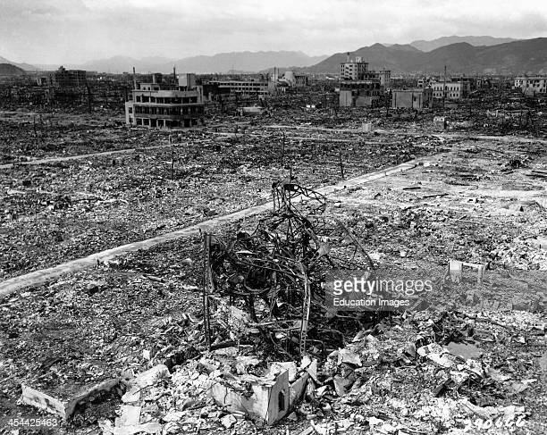 Hiroshima Japan After Atomic Bomb Hit World War II