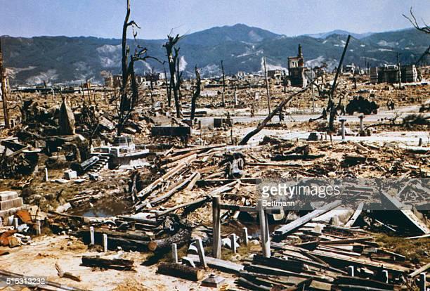 General view of Hiroshima Japan after atomic bombing during World War II