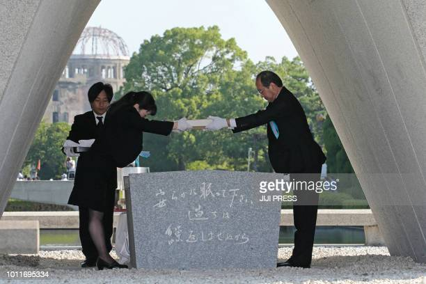 Hiroshima Mayor Kazumi Matsui offers a new list of Abomb dead including individuals who died since last year's anniversary from the side effects of...