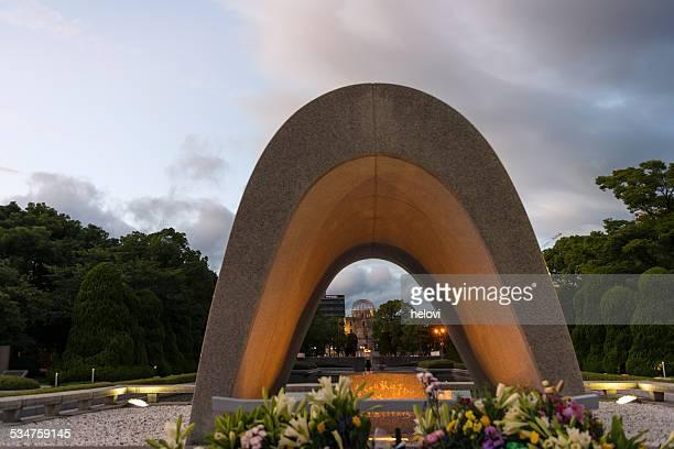 hiroshima memorial park - hiroshima city stock pictures, royalty-free photos & images