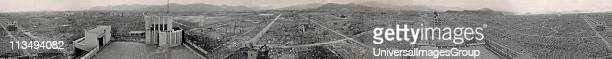 hiroshima panoramic viwe of the destruction after the atomic bomb exploded over the city in 1945