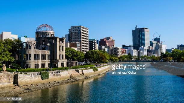 memorial de la paz de hiroshima - hiroshima fotografías e imágenes de stock