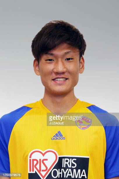 Hiroto Yamada poses for photographs during the Vegalta Sendai portrait session on January 13, 2020 in Japan.
