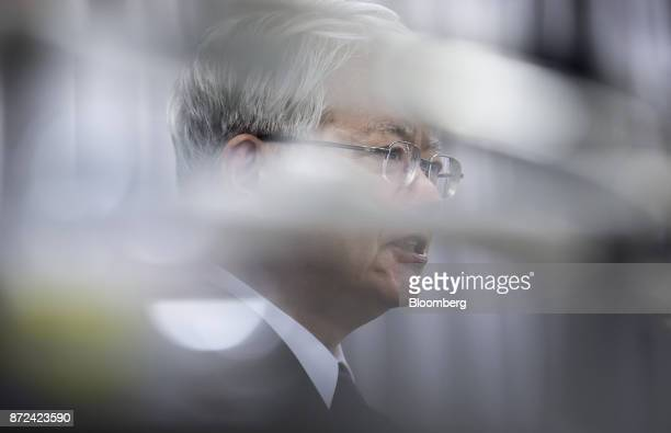 Hiroya Kawasaki president and chief executive officer of Kobe Steel Ltd speaks during a news conference in Tokyo Japan on Friday Nov 10 2017 Kobe...