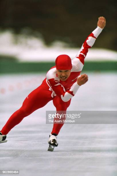 Hiroyasu Shimizu competes in the Men's 500m during the Asama Invitational Speed Skating Championships at Asama Onsen International Skating Center on...