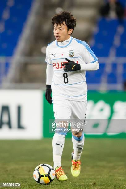 Hiroyuki Abe of Kawasaki Frontale in action during the AFC Champions League 2018 Group F match between Ulsan Hyundai FC vs Kawasaki Frontale at Ulsan...