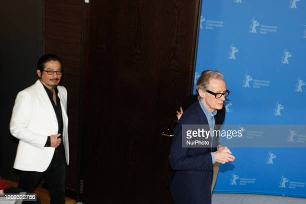 Hiroyuki Sanada Actor and Andrew Levitas Director Producer Screenwriter attends a photo call of Minamata during 70th Berlinale International Film...
