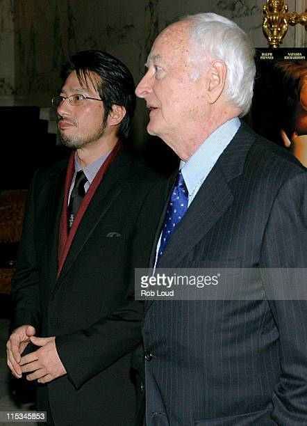 Hiroyuki Sanada and James Ivory during Merchant Ivory's The White Countess New York City Premiere After Party in New York City New York United States