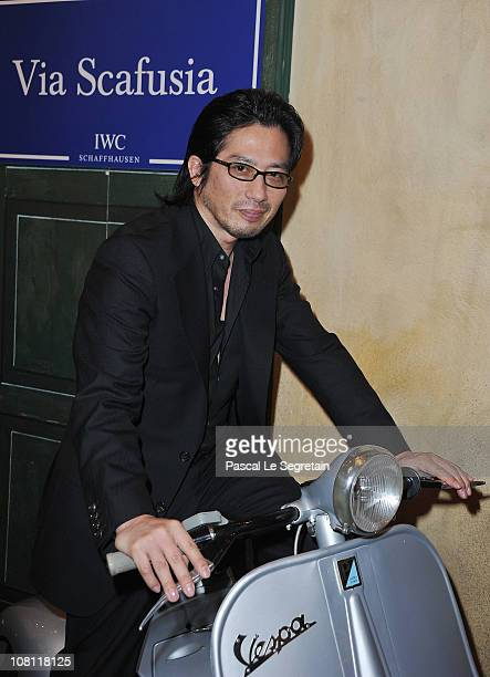 Hiroyuki Sanada attends the IWC launch of the Portofino watch range at the SIHH International Fine Watch makers exhibition on January 18 2011 in...