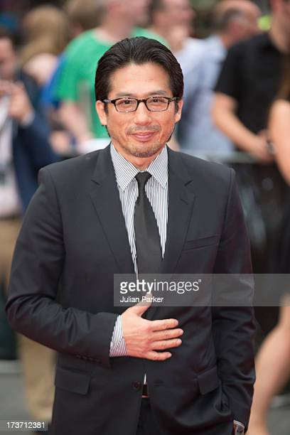 Hiroyuki Sanada attends the UK Premiere of 'The Wolverine' at Empire Leicester Square on July 16 2013 in London England