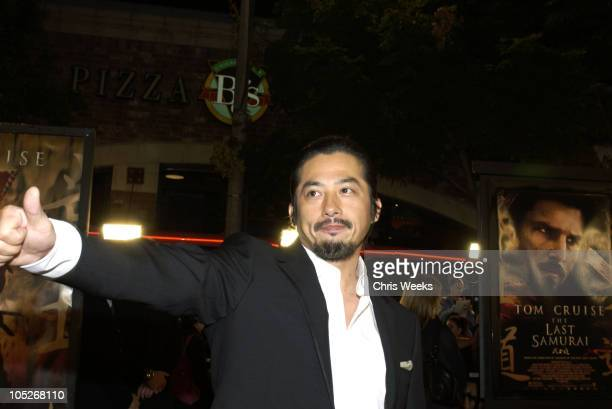 Hiroyuki Sanada during The Last Samurai Los Angeles Premiere at Mann's Village Theater in Westwood California United States