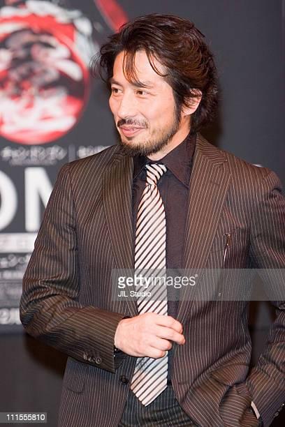Hiroyuki Sanada during The Promise Tokyo Press Conference at Grand Hyatt Tokyo in Tokyo Japan