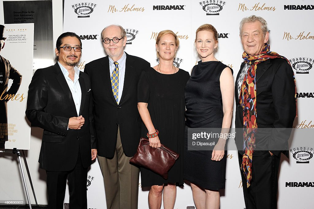 Hiroyuki Sanada, guest, Anne Carey, Laura Linney, and Sir Ian McKellen attend the 'Mr. Holmes' New York Premiere at the Museum of Modern Art on July 13, 2015 in New York City.