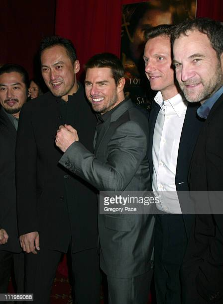 Hiroyuki Sanada Ken Watanabe Tom Cruise Tony Goldwyn and Marshall Herskovitz producer