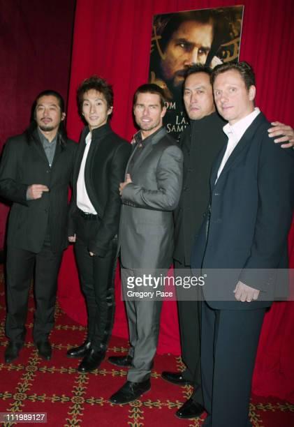 Hiroyuki Sanada Shichinosuke Nakamura Tom Cruise Ken Watanabe and Tony Goldwyn